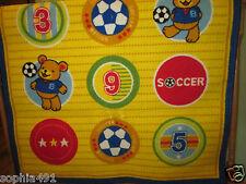 "Soccer & Teddy Bear Colorful Carpet/ Rug Kids Decor approx.sz. 60"" x 40"""