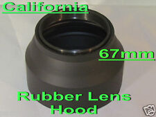 67mm 3 Stage  Rubber Lens Hood Canon Nikon Sony Sigma Pentax Olympus Panasonic
