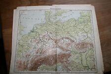 ancienne carte Europe centrale - Mittel Europa  fin XIXème