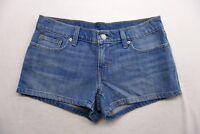 New Levi's Womens Shortie Light Stonewash Blue Jean Stretch Shorts Short Size 27
