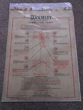 Wolseley Fifteen - Fifty Lubrication Chart C.C.Wakefield & Co Ltd