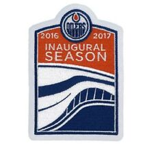 Edmonton Oilers Inaugural Season Jersey Patch At Rogers Place 2016