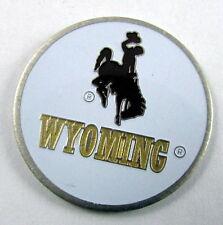 5 NCAA Collegiate Golf Ballmark Ballmarker Ball Mark Wyoming Cowboys White