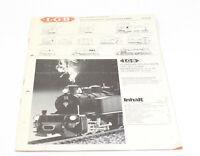 Original LGB Steam Train Locomotove Catalog 2010/85