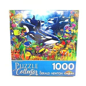 Orcas Ocean Domain 1000 Piece Puzzle Gerald Newton Cra-Z-Art Jigsaw