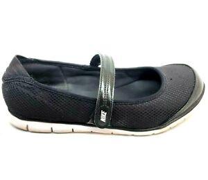 Nike Shoes Mary Jane 2 Athletic Flats Women's Size 6 Black 404458001