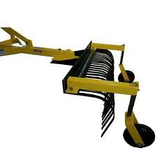 Titan Attachments 4 Ft Landscape Rake With Bolt On Wheels For Compact Tractors