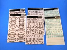 Jenni Bowlin Rub Ons Scrapbooking Letters Numbers Months 2 Ea