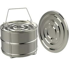 Stainless Steel Prompt Pot Sets Food Steamer Basket Steam Grid Stackable Cookers
