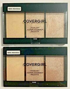 COVERGIRL Highlighter Trublend Super Stunner Palette #500 Fair/Lt Skin NEW [2]