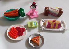 Bratz  Miniature Food Bread Desserts Sardines Meat Tray Carrots