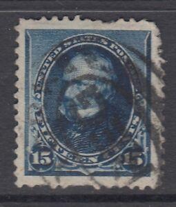 USA Scott #227  15 cent  Clay indigo