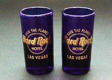 Hard Rock Cafe Las Vegas Purple Shot Glass Set
