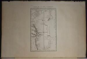 CASPIAN SEA RUSSIA & IRAN 1783 LE CLERC & TARDIEU ANTIQUE COPPER ENGRAVED MAP