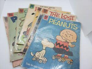 Dell comics lot of 8. Pluto, Peanuts Charlie Brown & more. Silver Age. RARE!