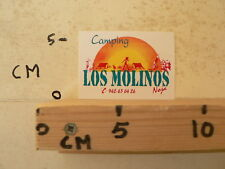 STICKER,DECAL CAMPING LOS MOLINOS NOJA TENT CAR CARAVAN