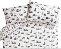 Animals Pandamonium panda Duvet Set Duvet Cover Size: Single Double King