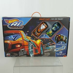 Hot Wheels AI Intelligent Race System 20 + Smart Track Pieces Make 40 + Layouts