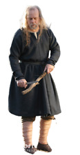 MEDIEVAL CELTIC,VIKING Black Tunic Shirt Renaissance LARP SCA