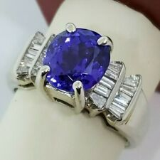 Estate 14k White Gold 4.55ctw Tanzanite .65ctw Diamond Ring Size 9.5 $3,995.00