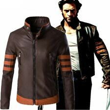 X-Men Wolverine Logan Faux Leather Jacket Costume Adult Men Carnival Cosplay