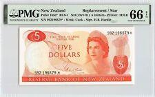 New Zealand ND (1977-81) P-165d* PMG Gem UNC 66 EPQ 5 Dollars *Replacement*