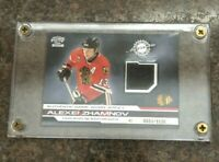 2001-02 Pacific Authentic Game Jersey Alexei Zhamnov Blackhawks #7 551/1135