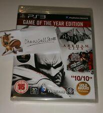 BATMAN Arkham City Gioco Dell'Anno Edizione PS3 NUOVO SIGILLATO UK PAL PlayStation 3