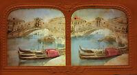 Venice Venezia Italia Italia Stereo Diorama Vintage Albumina Ca 1860