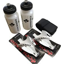 New Colnago Carbon Combo; White Water Bottles and Gloss White Cages + Saddle Bag