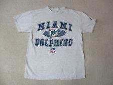 Vintage Miami Dolphins Shirt Adult Medium Gray Blue Nfl Football Mens 90s A2*
