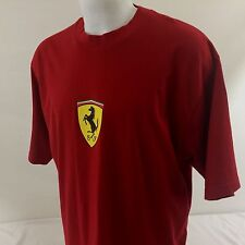 Ferrari Mens T Shirt 2XL Measures XL Red Officially Licensed 100% Cotton