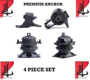 4Pcs Brand New Anchor Engine Mount Set For 2011-2017 Honda Odyssey SE