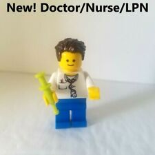 New Lego Doctor Male Nurse Minifigure Tool Syringe Lab Coat Medical Student