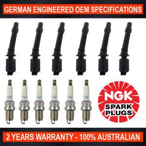 6x Ignition Coils for Ford Falcon BA & 6x Genuine NGK Iridium Spark Plugs