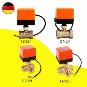 2/3 Wege Ventil Zonenventil Elektrisch Kugelventil 1 Zoll Motorkugelhahn 230V