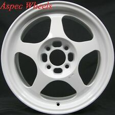 1 ROTA SLIPSTREAM 15x6.5 4X100 +40 WHITE RIMS WHEELS