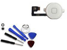 Für iPhone 4 Homebutton Home Button Flex 4G - Weiß & Werkzeug Set NEUWARE