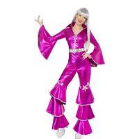 SALE Ladies Dancing Dream 70s 60s Smiffy's Fancy Dress Costume Abba Queen