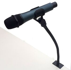 Lectern microphone adjustable gooseneck holder with table top clamp - 400mm