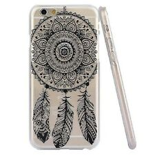 BOHEMIAN BLACK  DREAM CATCHER IPHONE 6 CLEAR PHONE CASE*