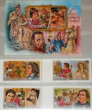 GUINEA 1986 1086-89 Block 196 B S/S 979-983 Intl. Youth Year Michelangelo Kunst