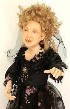 """OOAK 25"""" Tall Curly Hair Halloween Witch Hag Flying a Kite by Audrey Swarz"""