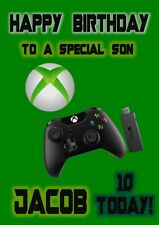 Xbox Personalised Large Birthday Card Son Brother Nephew Grandson Daughter Siste