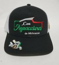 AGUACATEROS DE MICHOACA  HAT BLACK WHITE MESH TRUCKER SNAP BACK ADJUSTABLE NEW