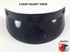 3 Snap Helmet Visor Sun Shield Vintage Motocross Motorcycle Fits Arai Racing 3/4