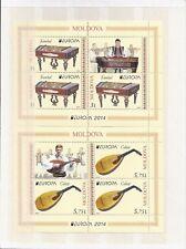 Cept 2014 ** 863-4 H-Blatt 18-9 Moldawien Postfrisch siehe scan