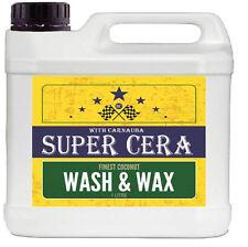 Super Cera Finest Wash and Wax With Carnauba 1 Litre Car Shampoo Cleaner Polish