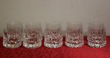 Set of 10 Heavy Cut Glass Old Fashioned Barware Rock Glasses