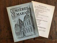lumières sur le MARAIS imprimerie municipale Hôtel de Ville Paris 1961